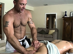 Blonde cutie comes in be useful to a palpate and gets his ass toyed away from gay masseur