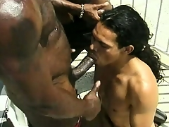 Famous monstrous frowning gentleman gets his dick stroked and sucked