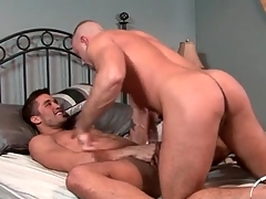 Hunk anal sex instalment alongside both guys cumming