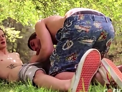 Gay lovers suck cock together with 69 in the stoolie
