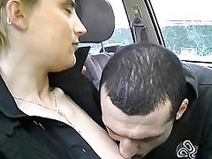 A boy hefty a kiss a attractive chap