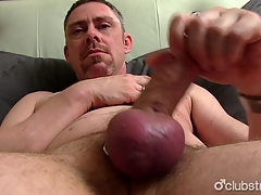 Mature Tucker Jerking Off His Penis