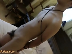 Cute Slim Asian Boy Bound Handjob