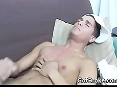 Broke straight boy jerking for money part3