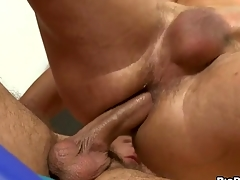 Unfathomable anal thrashing with cute gay lad and hunk