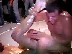 Losing college wrestler gets fucked