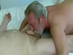 Beard mandy blow and eat cum