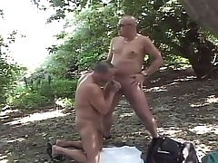 Lustful gay dudes enjoying lots of sucking and fucking in the forest