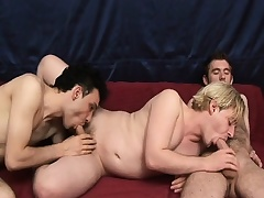 Hot gay threesome with these studs giving head and screwing ass