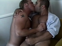 Brett Hughes gets a thrill out of fucking Eric York's tight ass deep